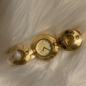 Robert Lee Morris Gold Link Watch